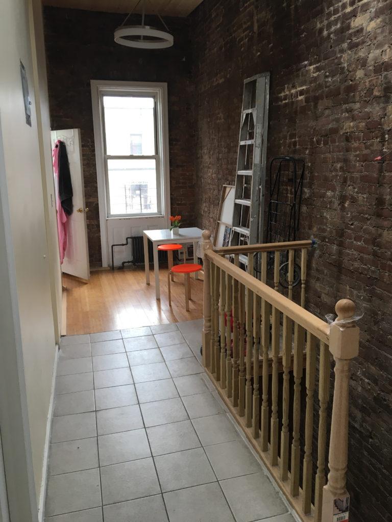 bed stuy airbnb hallway
