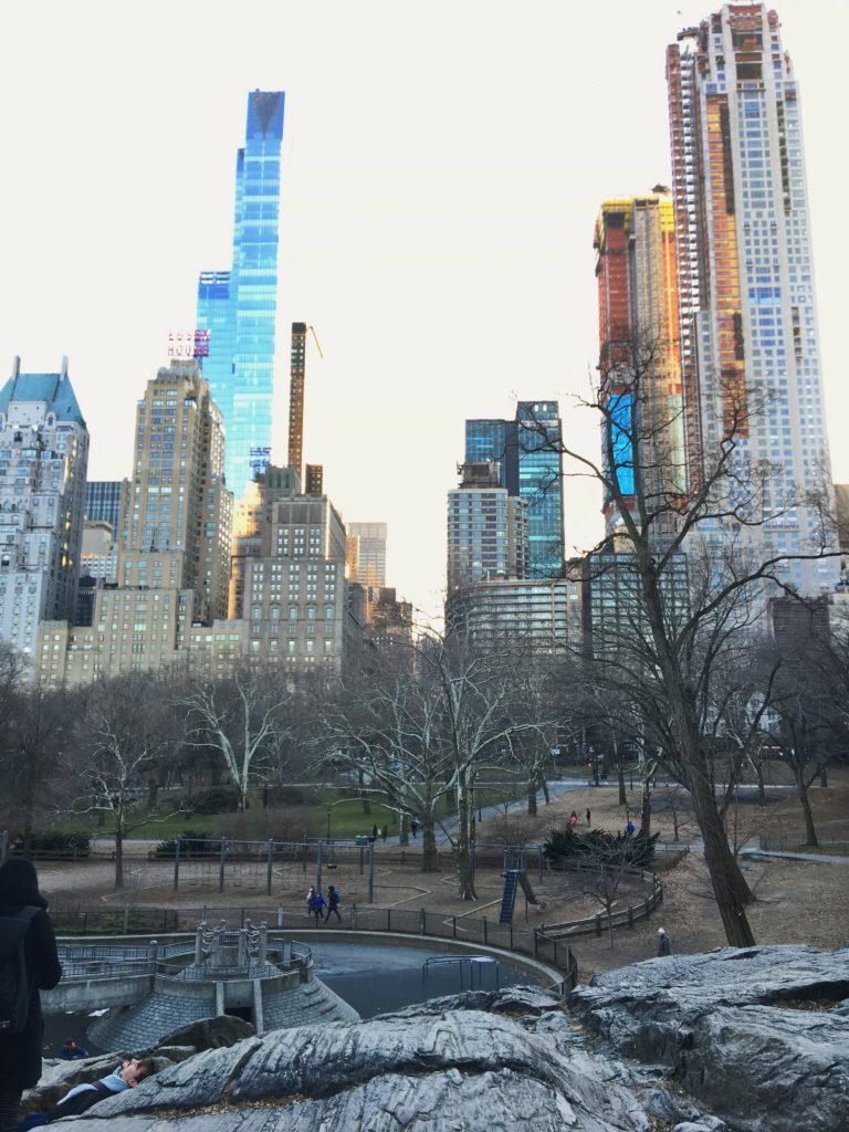 skyscrapers from central park