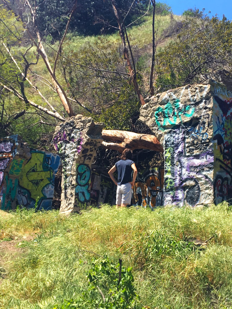 ethan hiked to runyon graffiti ruins
