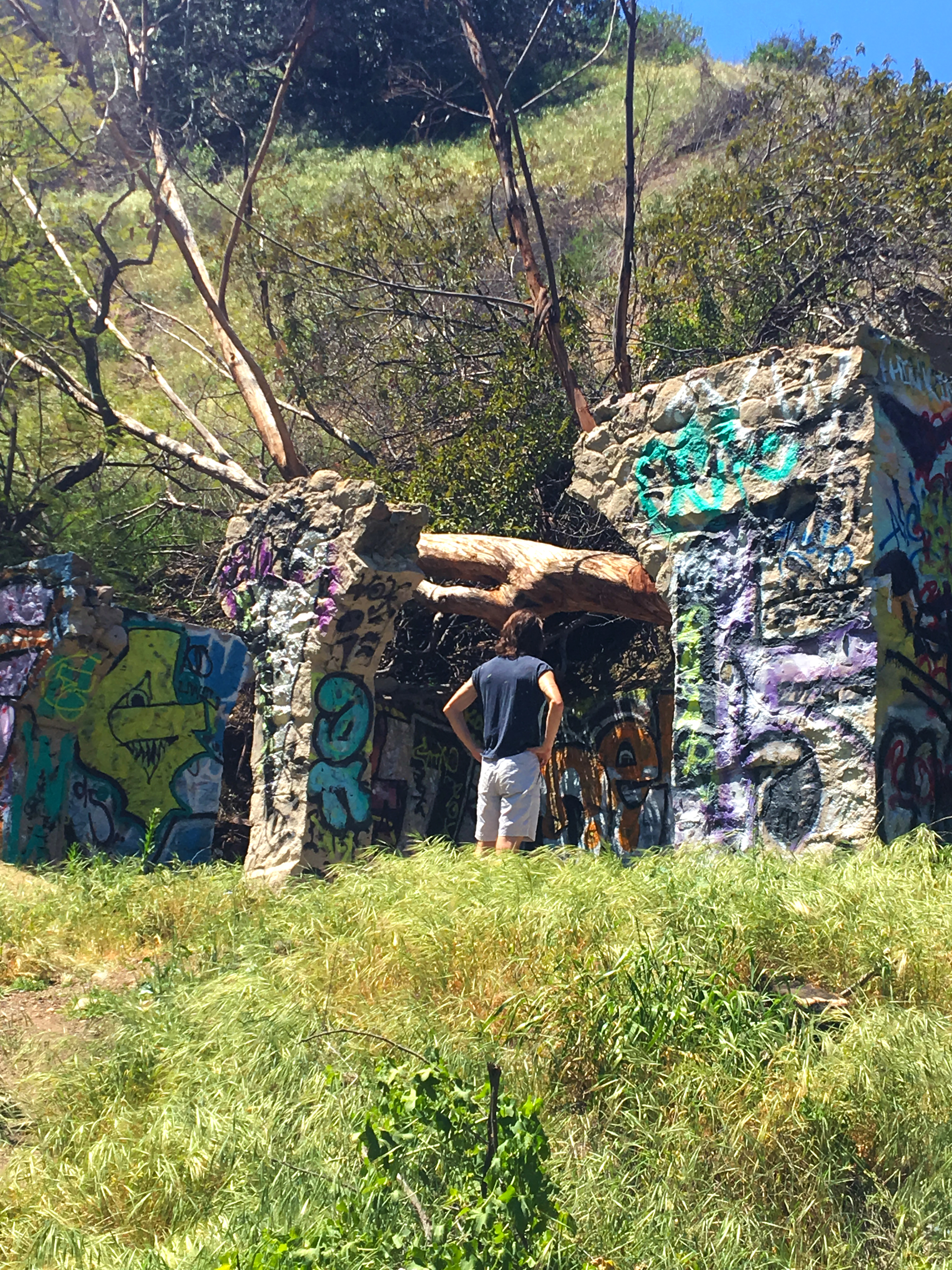 ethan hiked to runyon graffiti ruins
