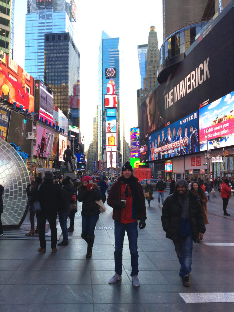 spider-man hoodie times square nyc