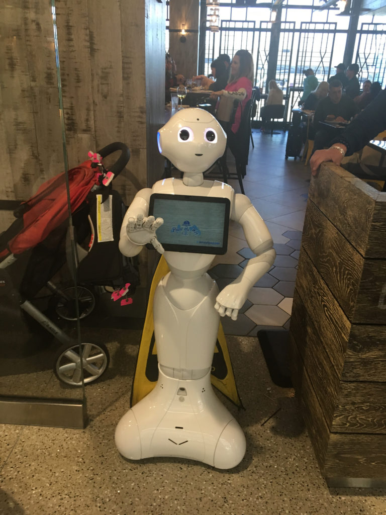 friendly server robot