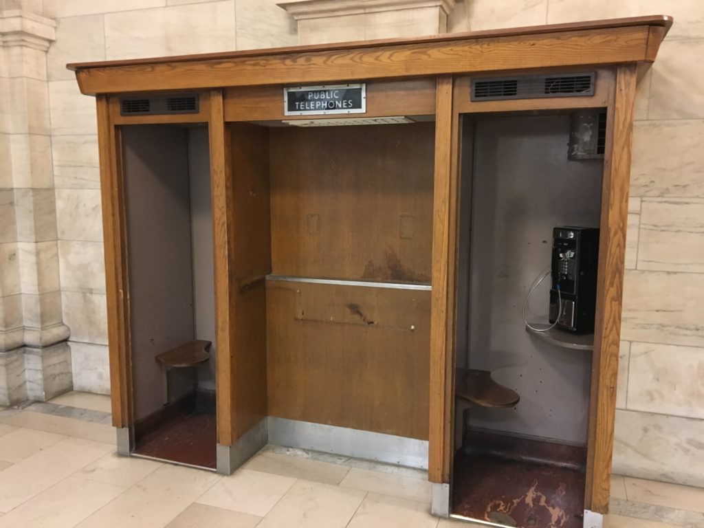 new york public library phone booths