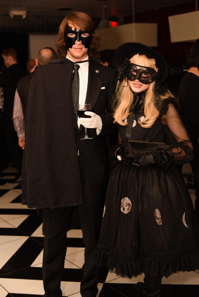 black and white moon lolita dress