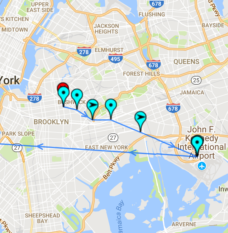 map out of jfk nyc