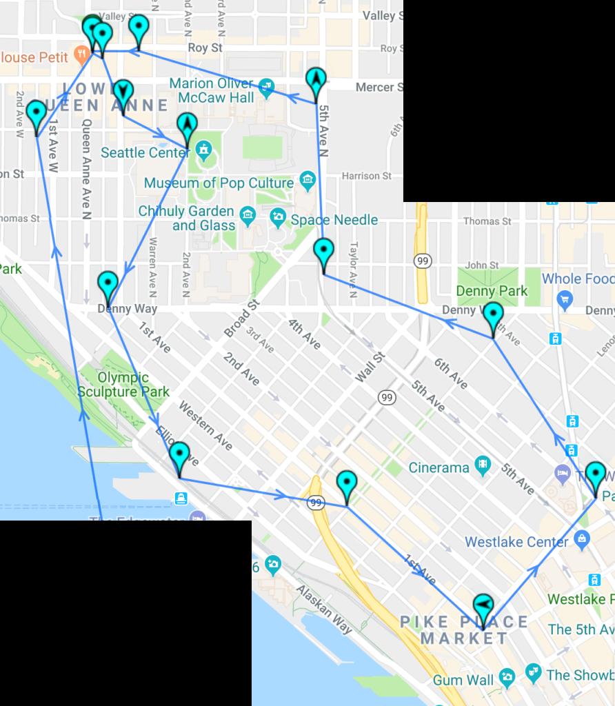 walking around seattle path map