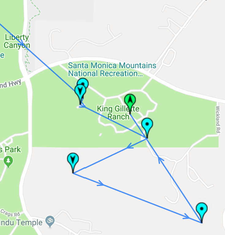 our trail map around king gillette ranch