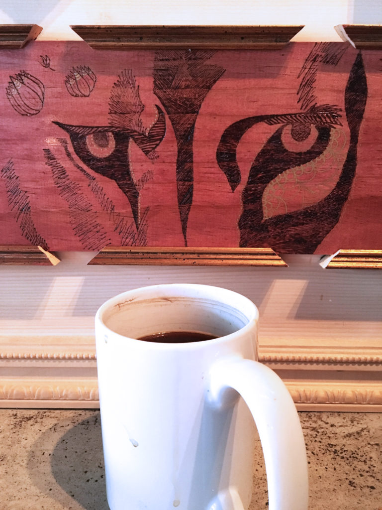 panther art at cafe sasso