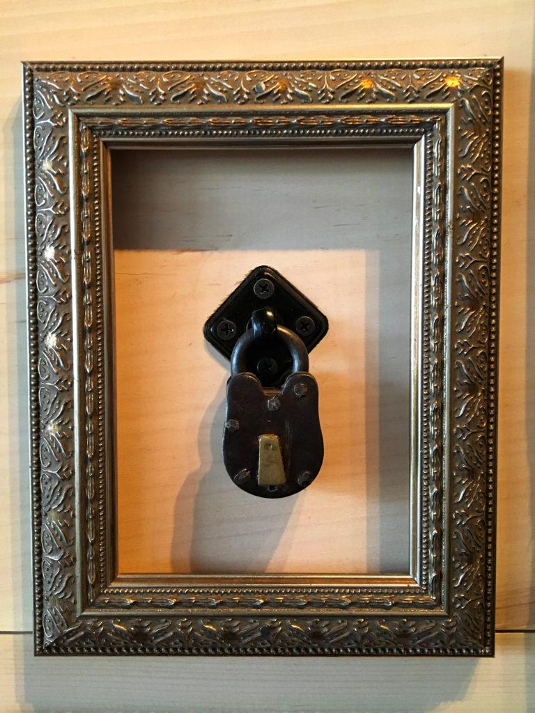 padlock in a frame
