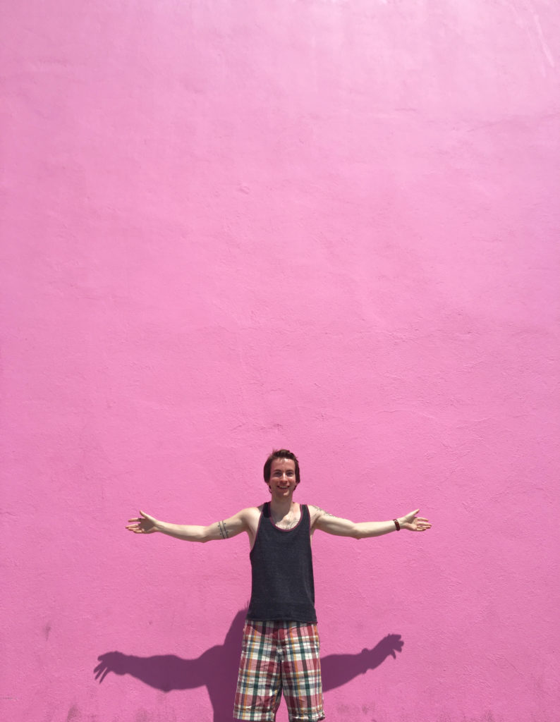 ethan pink wall