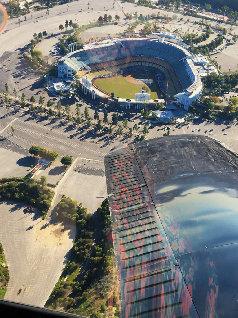 rose bowl baseball stadium downtown from above