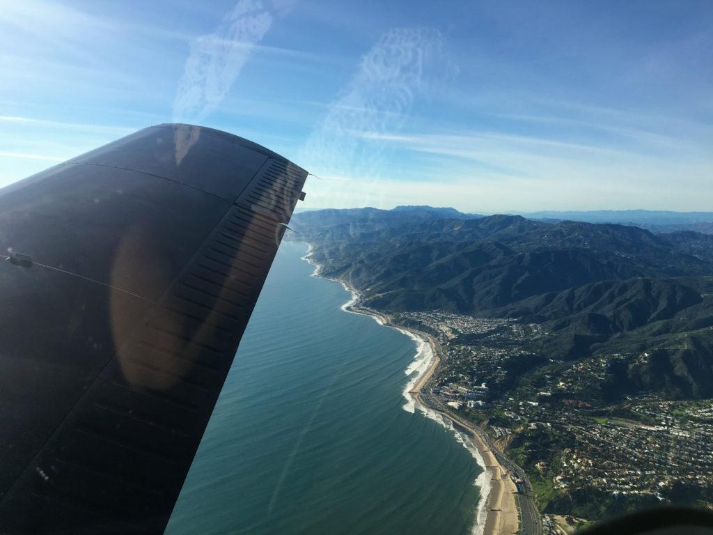 mountains, pacific ocean, beach, santa monica and hwy 1